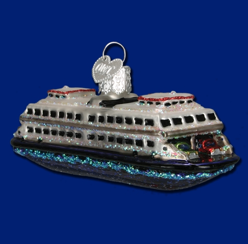 "Old World Christmas Glass Ornarment - ""Ferry"""