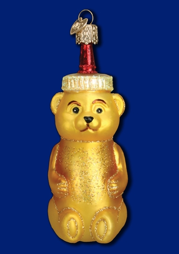 "Old World Christmas Glass Ornament - ""Honey Bear"""