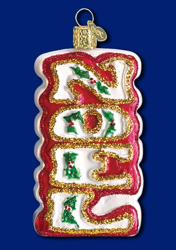 "Old World Christmas Glass Ornarment - ""Noel"""