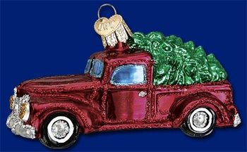 "Old World Christmas Glass Ornarment - ""Old Truck"""