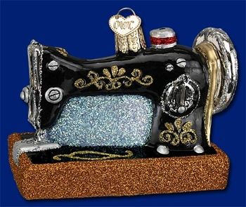 "Old World Christmas Glass Ornarment - ""Sewing Machine"""