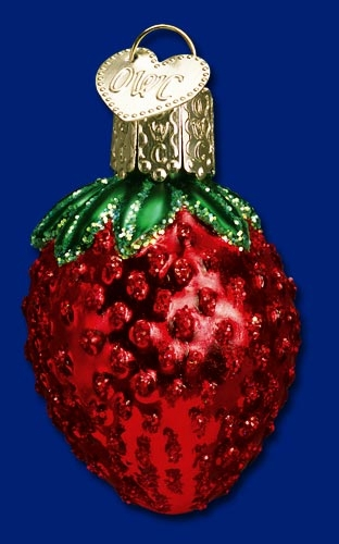 "Old World Christmas Glass Ornarment - ""Sweet Strawberry"""