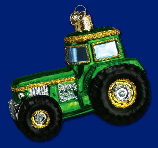 "Old World Christmas Ornament  - ""Tractor"""