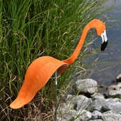Orange Flamingo Dancing Bird® - Decorative Garden Stake