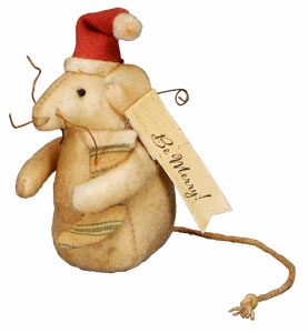 "Ornament - ""Berry Merry Christmas Mouse Ornament"""