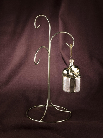 "Ornament Hanger - ""Brass Plated 3-Arm Ornament Hanger"""