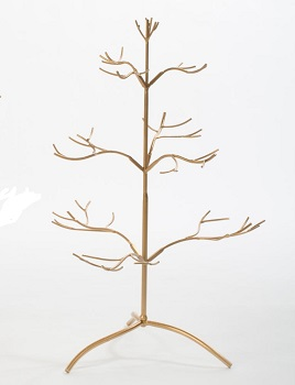 "Ornament Hanger - Tree ""Gold Ornament Hanger Natural Tree - 25 tall"""