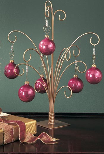 "Ornament Hanger Tree  -  ""Gold  Ornament Hanger Tree "" -  20"""