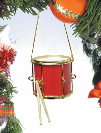Music Instrument Ornament - Red Marching Drum Ornament