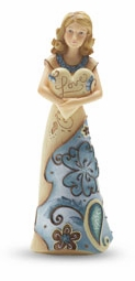 "Perfectly Paisley Figurine - ""Love Figurine Holding Heart"""