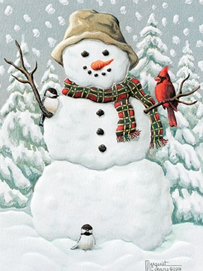 "Petite Boxed Christmas Cards - ""Happy Snowman"""