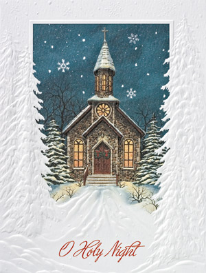 "Petite Boxed Christmas Cards - ""Holy Night"""