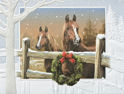 "Petite Boxed Christmas Cards - ""In The Meadow"""