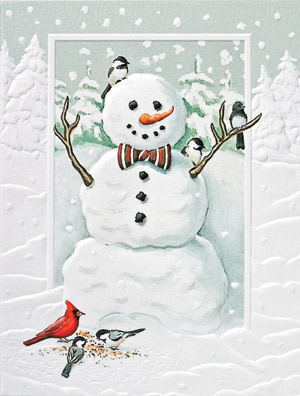 "Petite Boxed Christmas Cards - ""Jolly Snowman"""