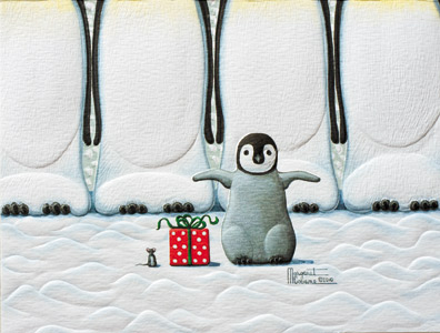 "Petite Boxed Christmas Cards - ""Little Penquin"""