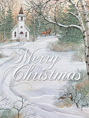 "Petite Boxed Christmas Cards - ""Merry Christmas"""