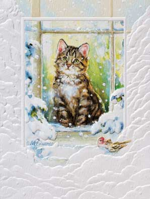 Boxed Cat Christmas Cards.Petite Boxed Christmas Cards Merry Meow