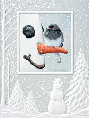 "Petite Boxed Christmas Cards - ""Nosey Junco"""