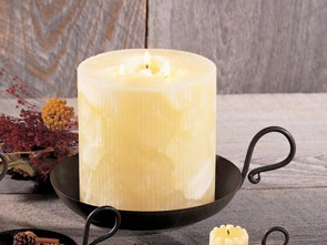 Pillar Candle Dish - Iron - 7.5 Inch