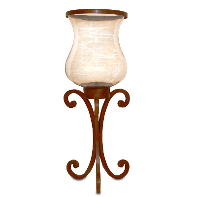 "Pillar Candle Holder - ""Large Mantle Hurricane Pillar Candle Holder"" - 24.25"""