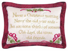 "Pillow - ""Never A Christmas Morning Pillow"""