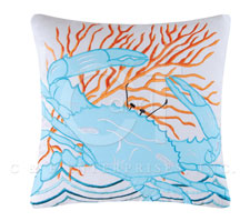 "Pillow - ""Blue Crab Pillow"""