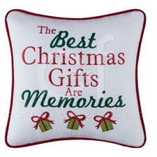 """Pillow - """"The Best Christmas Gifts Are.... Pillow"""""""