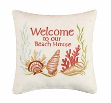 "Pillow - ""Welcome To Our Beach House Pillow"""
