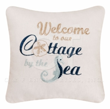 "Pillow - ""Welcome To Our Cottage By The Sea Pillow"""