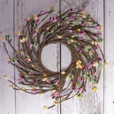 Pip Berry Candle Ring - Heritage Garden Pip Berries Candle Ring - 2.25 Inch