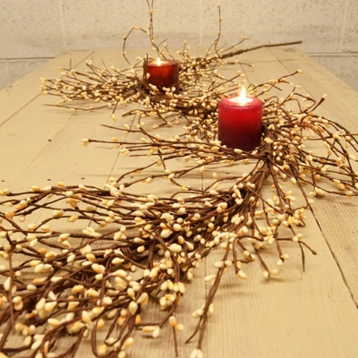 Pip Berry Garland - True Cream Pip Berries Garland - 4 ft