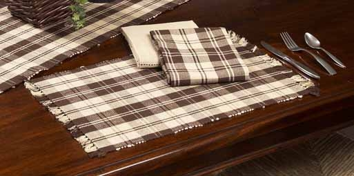 "Placemat - ""Brown Plaid Placemat"""