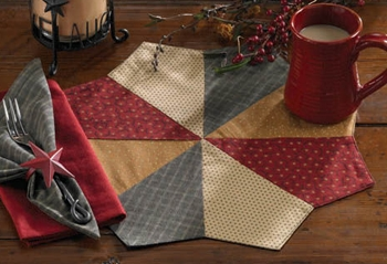 "Placemat - ""Hearth & Home Round Placemat"" - 17"" Diameter"