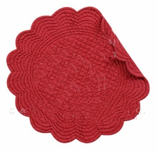 Quilted Reversible Placemat - Burgundy - 17in