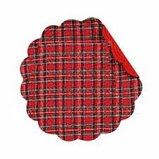 "Placemat - ""Red Plaid Placemat"""