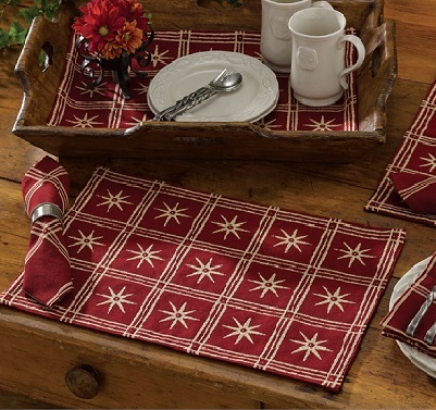 "Placemat - ""Windsor Star Placemat"" - Garnet"