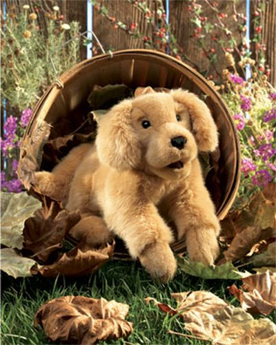 "Puppet - ""Golden Retriever Puppy Hand Puppet"""
