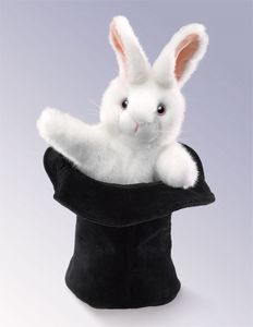 "Puppet - ""Rabbit In A Hat Hand Puppet"""