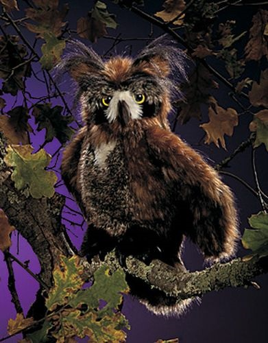 "Puppet - ""The Great Horned Owl Hand Puppet"""