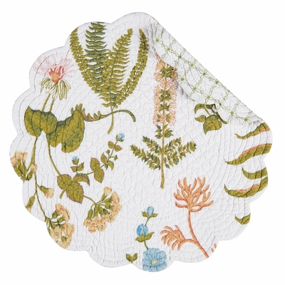 Quilted Reversible Placemat - Anessa - 17in