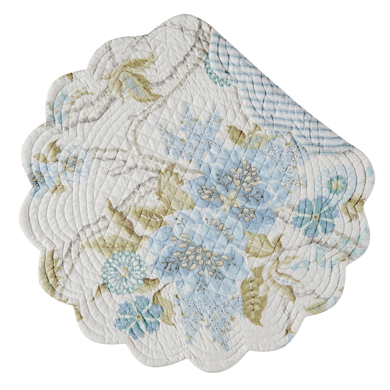 Quilted Reversible Placemat - Jesamine - 17in