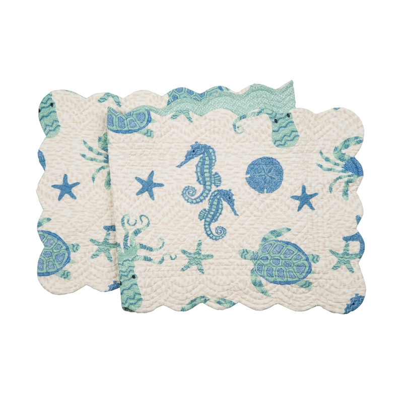 Quilted Reversible Table Runner - Brisbane - 51in