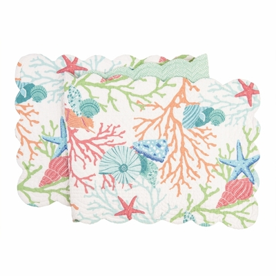 Quilted Reversible Table Runner - Caribbean Splash - 51in