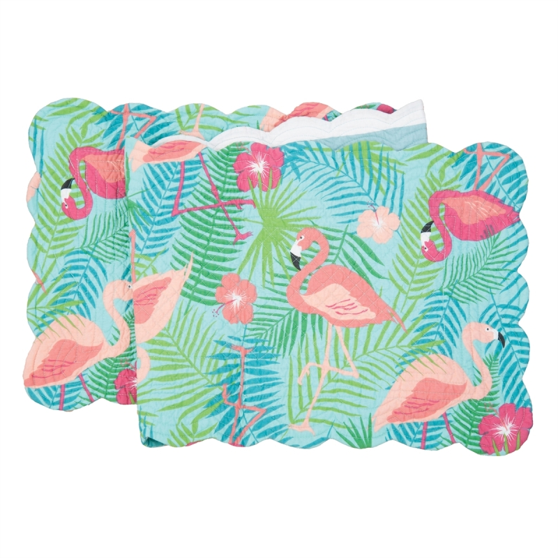 Quilted Reversible Table Runner - Isla Tropics - 51in