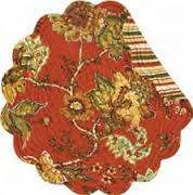 """Quilted Round Placemat - """"Florentine"""""""