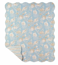 "Quilted Throw - ""Natural Shell Quilted Throw"""