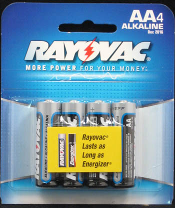"Rayovac Batteries - ""AA Alkaline Batteries"" - Pack of 4"