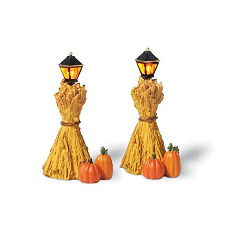 "Department 56 Snow Village Accessory - ""Corn Stalk Lanterns"""
