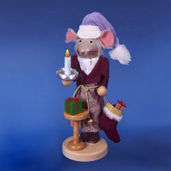 "Steinbach Nutcracker - ""Night  Before Christmas Mouse Nutcracker - 2nd In Night Before Christmas Series"""