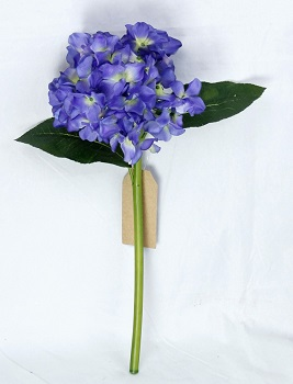 "Stem - ""Purple Hydrangea Pick"" - 17"""